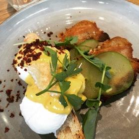 Eggs Benedict with Pork Jowl
